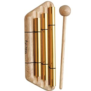 Tycoon Percussion 3 Gold Plated Chimes On Siam Oak Bar