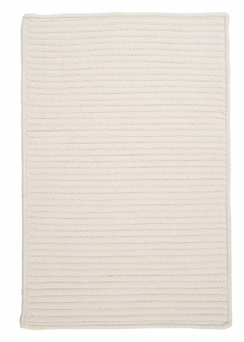 Indoor/Outdoor American Made Textured Rug 2-Feet by 3-Feet White Carpet