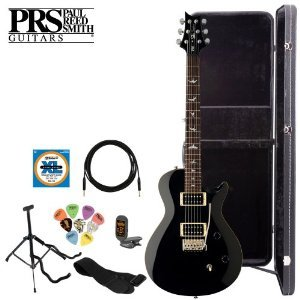 Paul Reed Smith Se Singlecut Tremolo Black Electric Guitar Kit With Tuner, Cable, Strap, Strings, Stand, Picks Hard Case