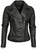 Barney's Originals Women's Leather Asymmetric Biker Jacket