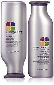 Pureology Hydrate Shampoo 8.5oz and H…
