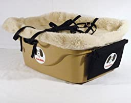 2 Seater Dog Car Seat Finish: Tan, Harness Sizes: Medium and Large, Lining Color: Sherpa Beige