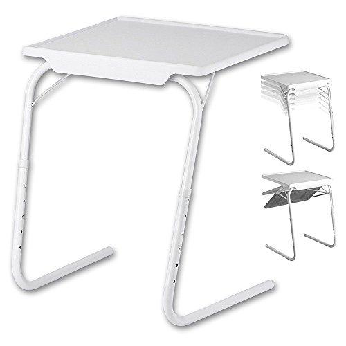Tisch-Klappbar-Beistelltisch-Multifunktionstisch-Pflegetisch-Weiss-Tisch-fr-Sofa-Couch-Bett