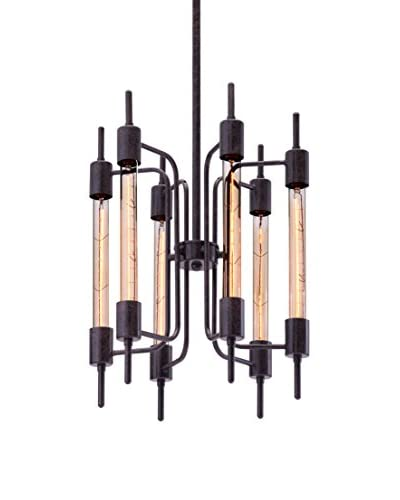 Zuo Gisborne 6-Light Ceiling Lamp, Rust