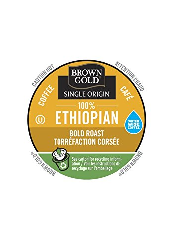 Brown Gold, 100% Ethiopian Coffee, 48 Single Serve RealCups (K Cup And Water Cooler compare prices)
