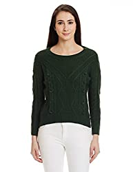 Bysi Womens Wool Sweater (70082_Green_12)