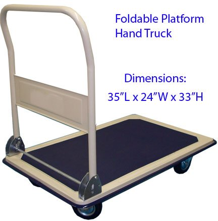 Foldable Platform 660lb Hand Truck Cart Dolly 24 x 36
