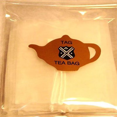 紅茶茶葉用タグ付きメッシュバッグ10枚入り