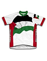 Palestine Flag Short Sleeve Cycling Jersey for Women