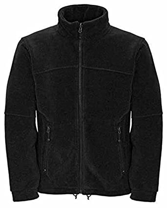 Mens Full Zip Classic Fleece Jackets Sizes XS to 4XL SUITABLE FOR WORK & LEISURE (2XL - XXL, BLACK)