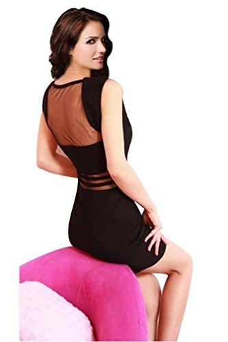 Ninimour- Sexy Fashion Little Black Dress Bodycon Clubwear Patry Dress (L, sk1614bk)