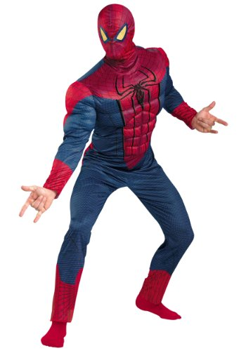 Disguise Mens Amazing Spiderman Classic Muscle Superhero Halloween Costume
