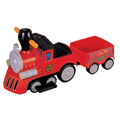 New Star My Mini Express Train with Trailer Battery Powered Riding Toy - Red