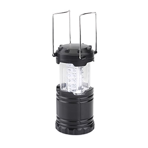 AGM Collapsible Water Resistant Ultra Bright Outdoor 30 LEDs 150LM Camping Lantern (black) (Butane Tent Heater compare prices)
