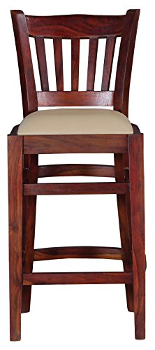 The Heritage TH-DLBC024 Mayank Shesam Wood Bar Chair (White)