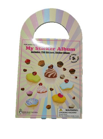 My Sticker Album - 250 Stickers, Sticker Album (Cupcakes and Sweets)
