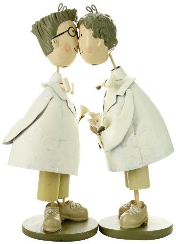 BIS 1187 Tortenfiguren Brautpaar, zwei Männer küssend