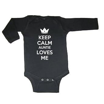 Amazon.com: So Relative! Unisex Baby Keep Calm Auntie Loves Me Long