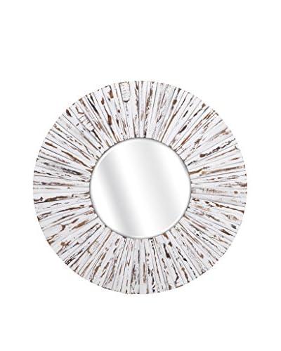 Sadie White Wooden Mirror As You See