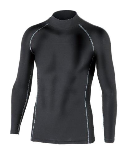 おたふく手袋 ボディータフネス 保温 パワーストレッチ 長袖 ハイネックシャツ ブラック L JW-170