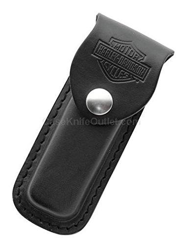 Case Cutlery CA52099 Sheath Harley Leather with Harley Davidson logo Hunting Knives, Medium, Black