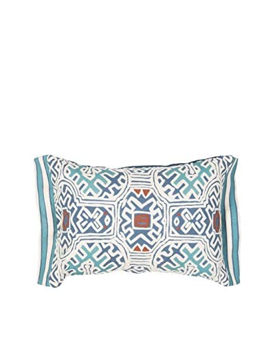 Jaipur Rugs Modern Lumbar Pillow, Blue/Multi