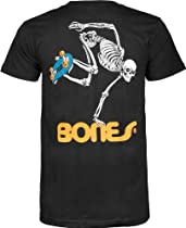 Powell-Peralta Skateboard Skeleton T-Shirt, Black, X-Large