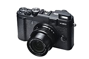Fujifilm X20 Digital Camera - Black (12MP X-Trans CMOS II With EXR Processor II, 4x Optical Zoom) 2.8 inch Premium LCD