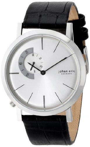 Johan Eric JE1500-04-001 - Reloj de pulsera hombre, piel, color negro