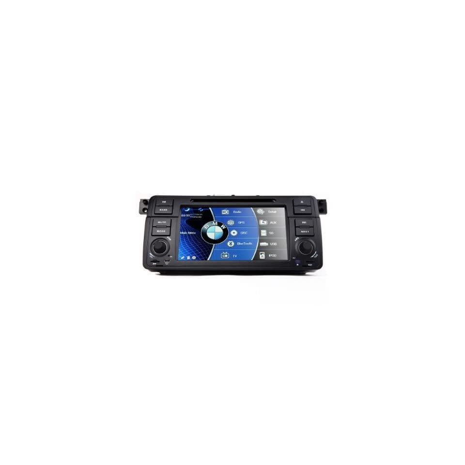 SUSAY ProAuto In Dash Car DVD Player For BMW 3 series E46 1998 2006 with GPS Navigation Radio (Map free) Bluetooth/PIP/3D/Ipod/Steering wheel control