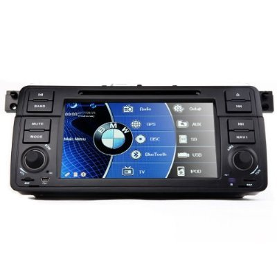 Proauto In-Dash Car Dvd Player For Bmw 3 Series E46 1998-2006 With Gps Navigation Radio (Map Free) Bluetooth/Pip/3D/Ipod/Steering Wheel Control