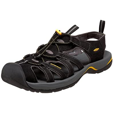 KEEN Men's Kanyon Sandal,Black/Gargoyle,9.5 M US