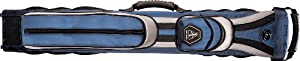 Lucasi Sport Series 3 Butt 5 Silk Sleeve Shaft Hard Pool Cue Case - Blue Black and Silver