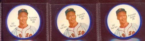 1962 Salada Tea Coins (Baseball) Card# 187 Pumpsie Green Of The Boston Red Sox Nrmt Condition
