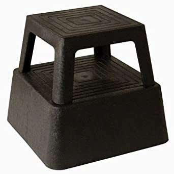 Continental 523BK, Black Plastic Step Stool (Case of 1)