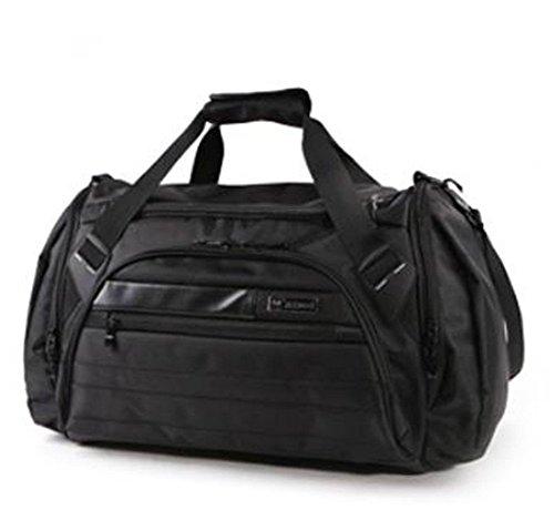 wewod ampio borsone portatile Baren Oxford-Borsa male da viaggio Borse Spalla Tasche bagagli impermeabile impermeabile Weekender Fashion, nero, L