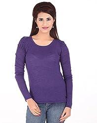 Calvin Klein Womens Purple T-Shirt