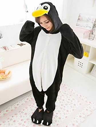 hopegarden halloween kost m frauen tier pinguin onesie. Black Bedroom Furniture Sets. Home Design Ideas