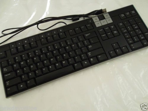 Genuine Dell Usb Black And Silver Slim 104-Keys Keyboard With Optical Scroll Wheel 2-Button Mouse Keyboard Model Number: Y-U0003-Del5 / Part Number: U473D Mouse Model Number: M-Uardel7 / Part Numbers: Xn966, Xn976