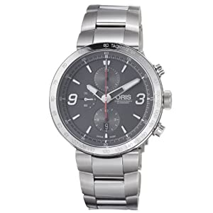 Oris Men's 01 674 7659 4163 07 8 25 10 TT1 Chrono Grey Dial Watch