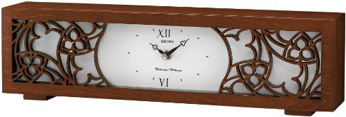 Seiko Veneer Musical Mantel Clock - Westminster and Whittington Chimes