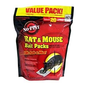 No-Pest 20 Count Rat & Mouse Bait Packs Case Pack 6 No-Pest 20 Count Rat & Mouse Bait Packs Case Pa