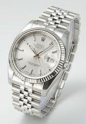 [ロレックス]ROLEX 腕時計 デイトジャスト WGベゼル 5連ブレス シルバー Ref.116234 メンズ [並行輸入品]