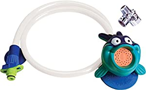 Rinse Ace 3801 My Own Shower Children's Showerhead with 3-Foot Quick-Connect/Detachable Hose and Blowfish Character