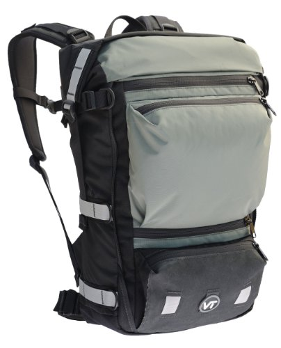 Velo Transit Women's Quintessential 30 Waterproof Bicycle Commuter Backpack (Grey, Small)