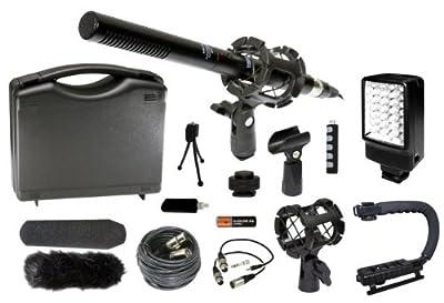 Professional DSLR Microphone Stabilizer LED Video Light Accessories Kit for Nikon D7100 D7000 D5200 D5100 D3200 D3100 D800 D600 D90