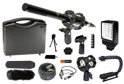 Professional Dslr Microphone Stabilizer Led Video Light Accessories Kit For Nikon D7100 D7000 D5200 D5100 D3200 D3100 D800 D600 D90