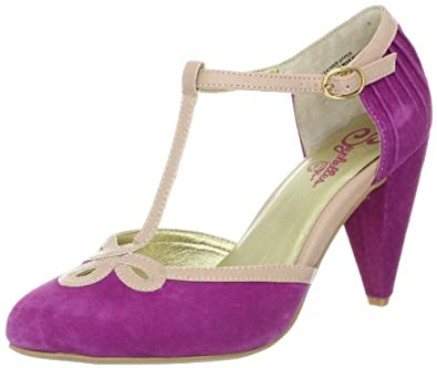 Seychelles Women's All Dressed Up T-Strap Pump,Plum,6 M US