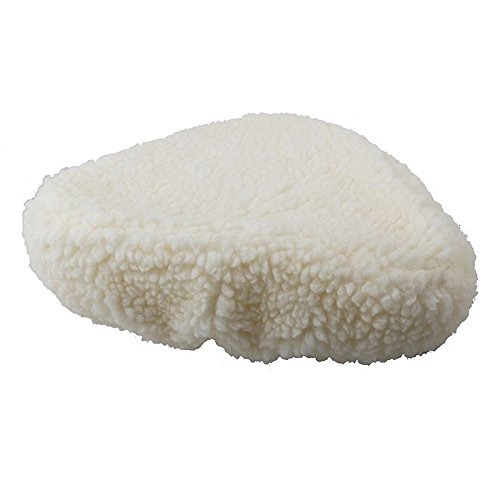 Sunlite Bicycle White Fur Saddle Cover for Cruiser & Excercise Bike Seats