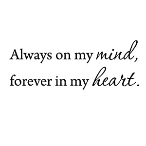 Amazon.com: Always On My Mind Forever In My Heart Love ...